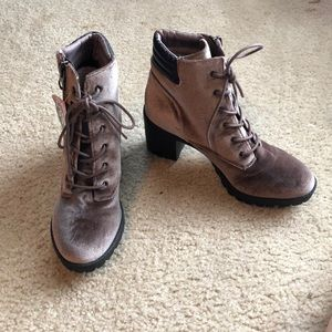 NTW Madden Girl Space Gray Suede Boots
